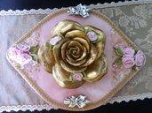 bomboniera battesimo cetro tavola ovale in marmo rosa di potogallo