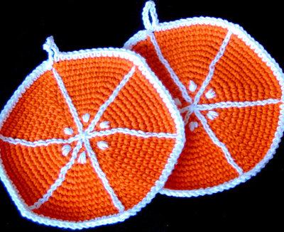 orange potholder