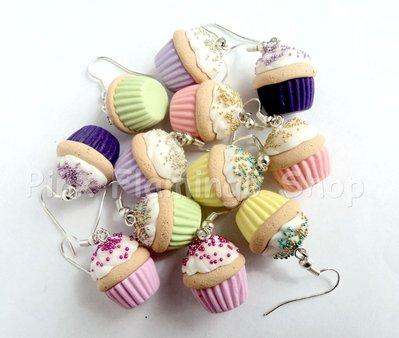 Orecchini Cupcake in Fimo 4