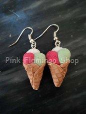 Coni Gelato - orecchini in Fimo