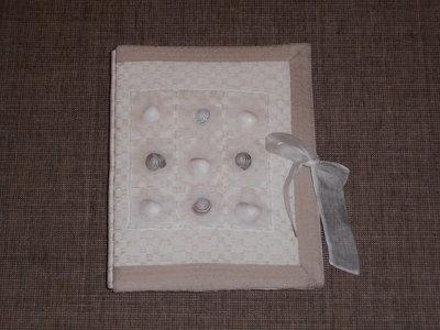 1003 Album foto originale fatto a mano con conchiglie---------------Original handmade picture album with shells