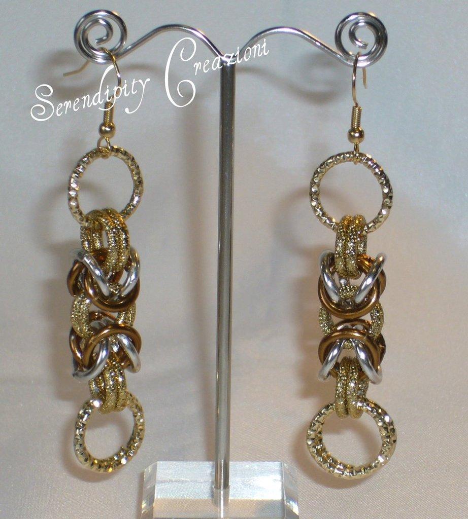 Orecchini Chainmaille Oro