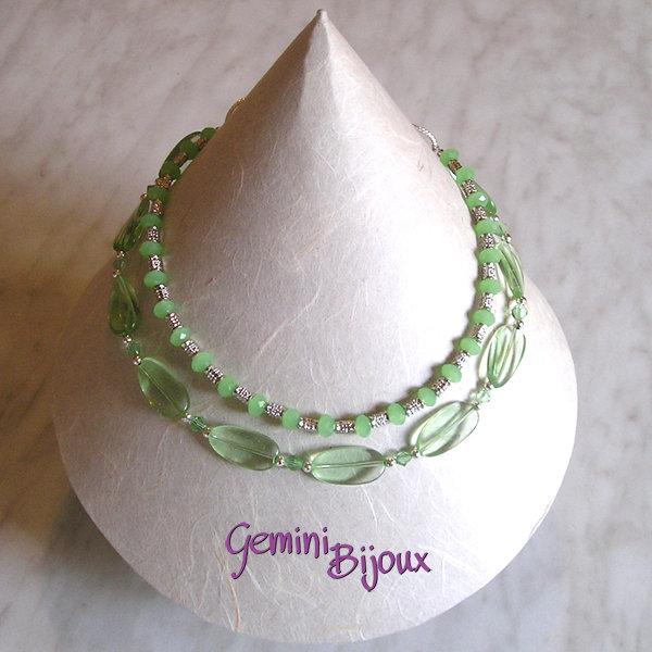 Collana verde crystal