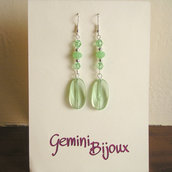 Orecchini verde crystal