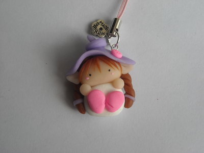 Follettina Bianco-Viola Phonestrap