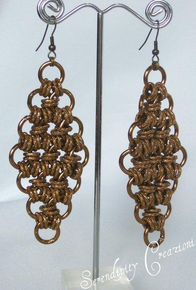Orecchini Chainmaille bronzo