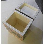 Portatutto Scatola in legno porta oggetti con loghi famosi applicati