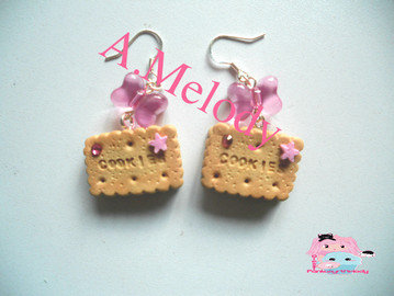 """Earrings biscuits  Cookies """