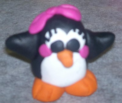 PINGUINA IN FIMO