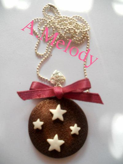 """Collana """"biscotto Pan di stelle """""""