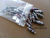 Perline di carta - color griggio