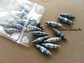Perline di carta - color nero / blu