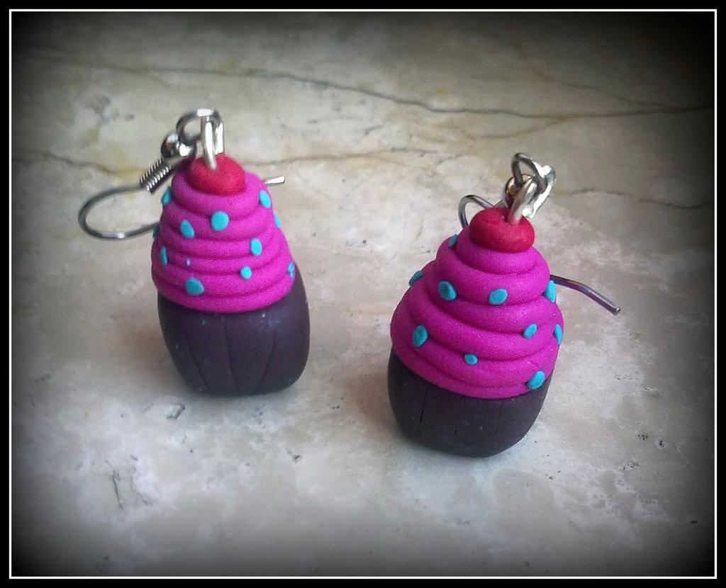 """Orecchini in fimo """" Cupcakes """""""