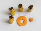 4 Mini Cutter Per Fimo o Cernit, solo 0,5 cm!