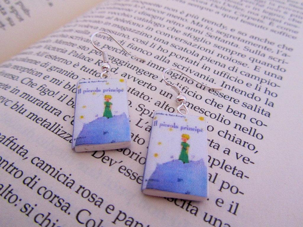 orecchini libricino piccolo principe