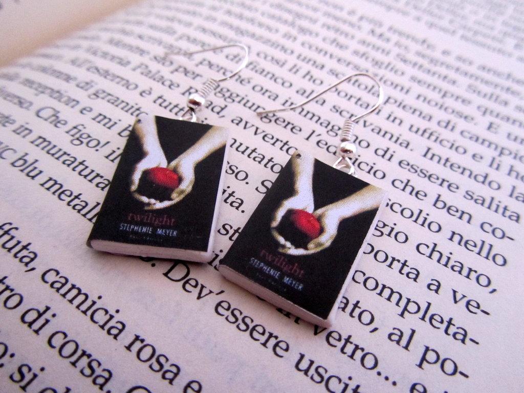 orecchini libricino twilight
