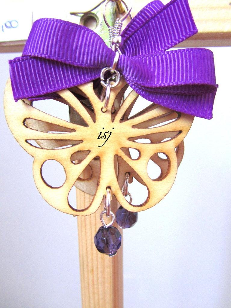 orecchini filigrana legno
