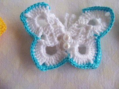Farfalle Bomboniera Farfalle Con Perline Uncinetto Feste Bombon