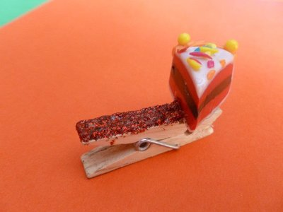 "Molletta fermacarte ""torta"""
