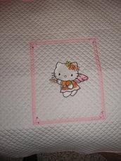 Copertina cesta HELLO KITTY in piquet di cotone stupenda