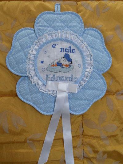 fiocco nascita fiore azzurro