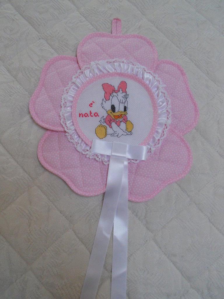 fiocco nascita fiore rosa