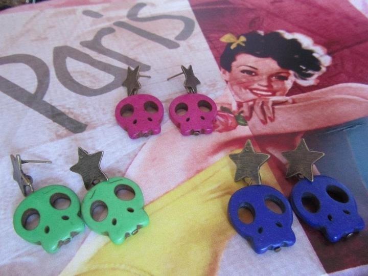 orecchini teschietti