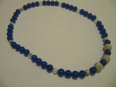 Collana giada blu
