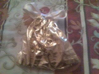 sacchetto dorato per denaro