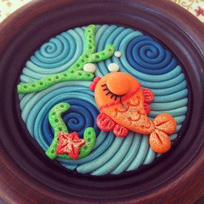 Pesce rosso - piccolo quadretto