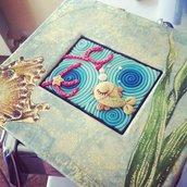 Pesce dorato - cornice decoupage