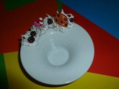 "Portacandele ""biscotti e dolci"" in ceramica"