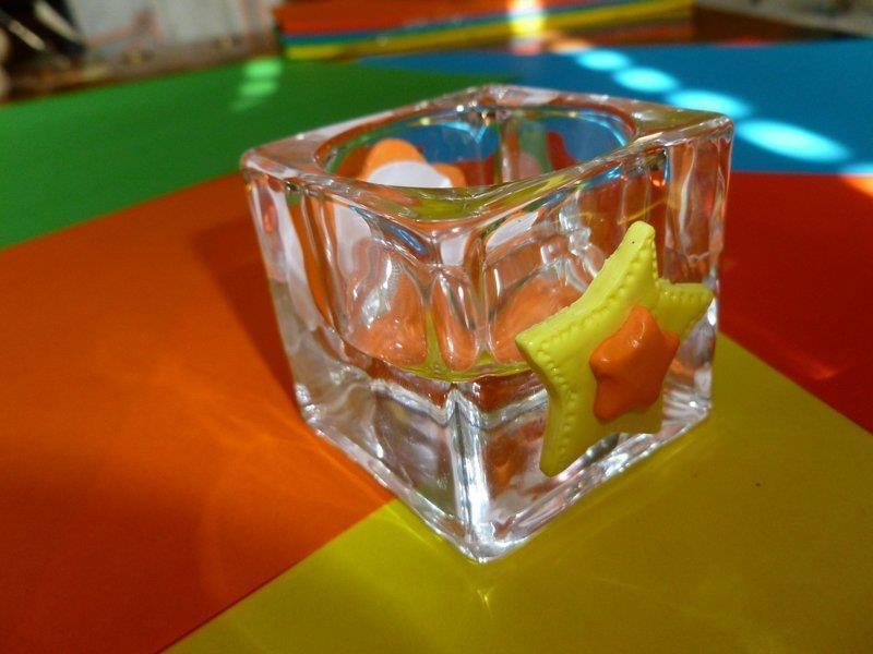 Portacandele stelline in vetro per la casa e per te - Portacandele in vetro ...