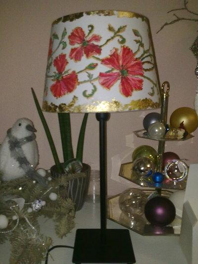 Lampada da tavolo Papaveri (venduta, ma puo essere realizzata su richiesta)