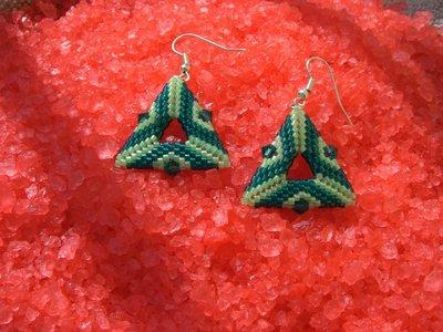 orecchini  peyote con cristalli swarovski