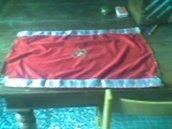 Telo altare in ciniglia rossa