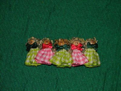 fermaglio bamboline rosa e verde