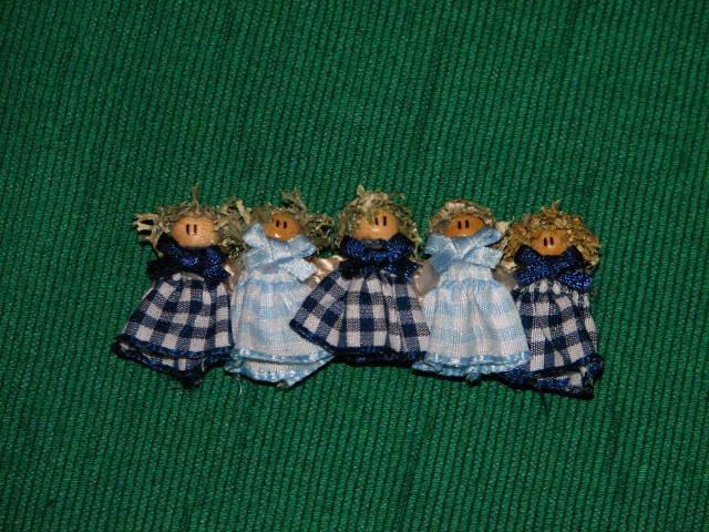 fermaglio bamboline azzurre e blu