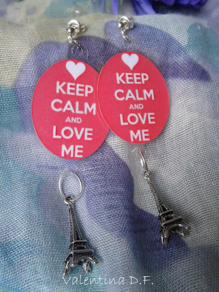 Orecchini KEEP CALM AND LOVE ME