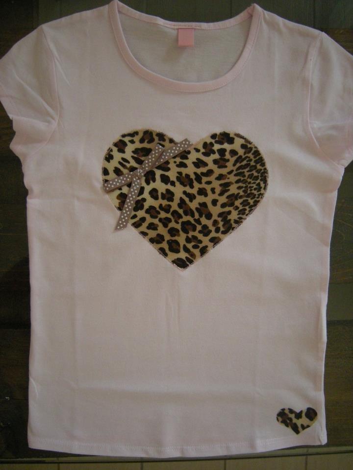 """Maglietta """"cuore leopardo"""""""