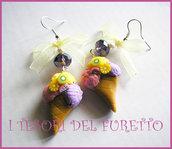"""Orecchini """"Gelato Fiocco Giallo"""" imo cernit idea regalo estate 2012"""