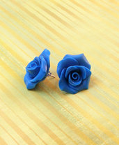 ORECCHINI ROSA - ROSE EARRING - Polymer Clay