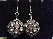 Orecchini perle nere e argento