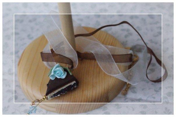 "collana ""sweet sweet"" (cioccolato e rosa celeste) ""SALDI"""