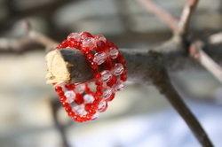 Anello di perle di vetro di murano