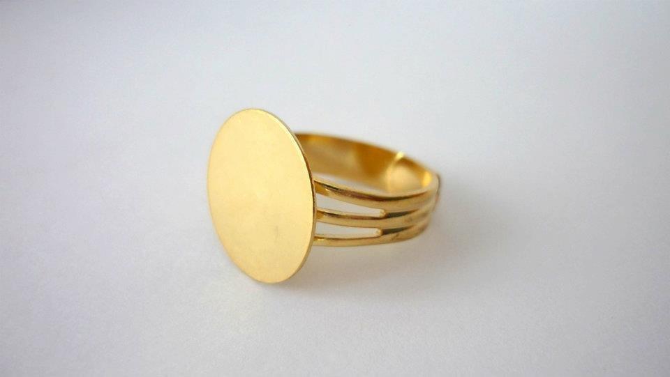 Base anello regolabile color oro