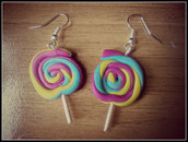 """Orecchini in fimo """" Lollipop """""""