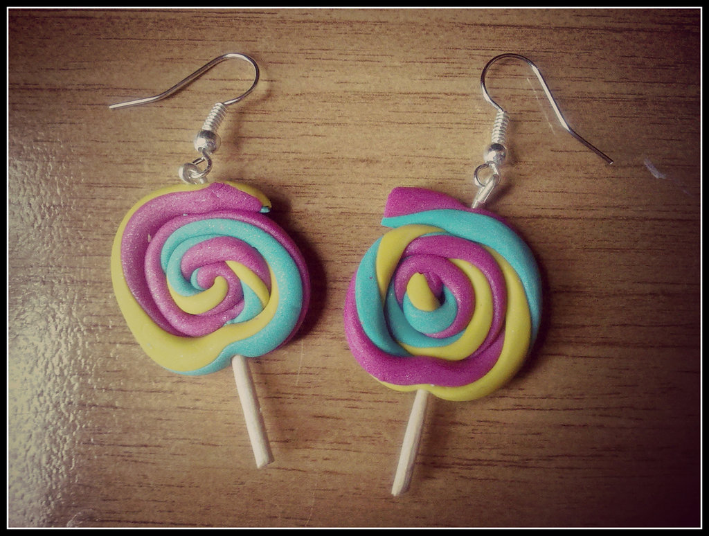 "Orecchini in fimo "" Lollipop """