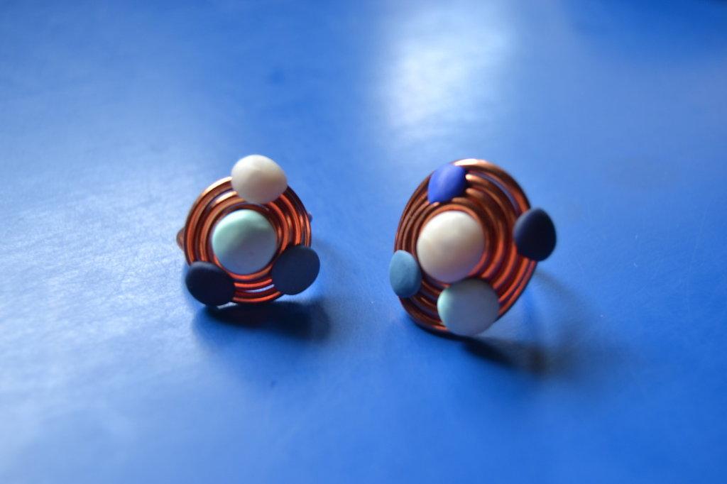 anello a spirale in alluminio ramato