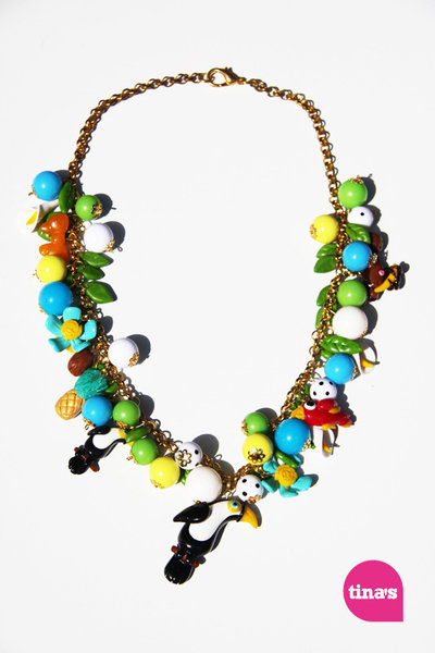 Collana multicharms great toucan